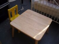 CHILD'S PLAY TABLE AND CHAIR