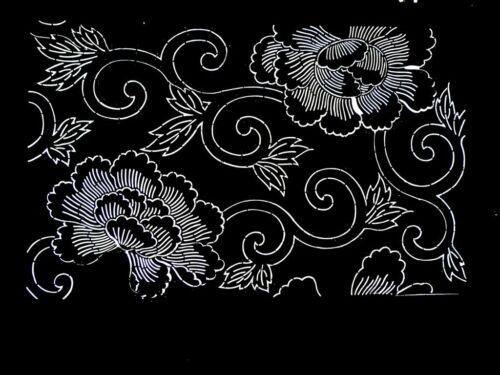 ANTIQUE 19c JAPANESE Ise KATAGAMI KIMONO STENCIL ART Edo - KATAZOME 10614