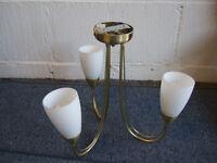 3 Arm Antique Brass Ceiling Light