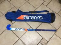 "GRAYS BLUE HYPE Hockey stick 36.5"" L with bag"