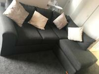 SOLD Next Grey Corner Sofa