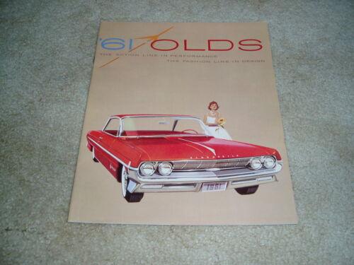 1961 61 Oldsmobile FL DELUXE Classic 98 Super 88 Dynamic F-85 sales brochure