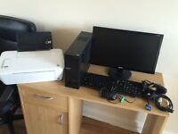 Acer computer and Hp printer