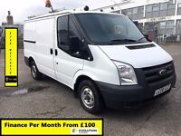 Ford Transit Van 2.2 300-1 Owner Ex BT-FSH 10 Stamps-1YR MOT-90K Miles Only-Parking Sensors WARRANTY