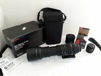 Sigma 150 - 500mm lens f/5 - 6.3 DG OS HSM Sony fit and Sigma x 2 converter sony fit