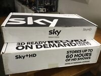 Brand new Sky HD + box and Sky HD box