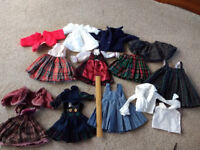 JOB LOT OF DOLLS CLOTHES, DIFFERENT SIZES AND COLOURS.