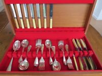 44 Piece Vintage Silver Plated Cutlery Set