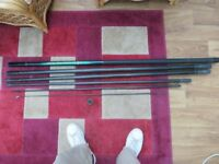 8metre carbon fibre fishing pole