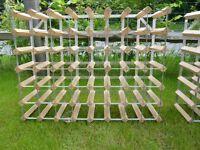 Wood & Metal Wine Racks x 2 - Hold 48 bottles each