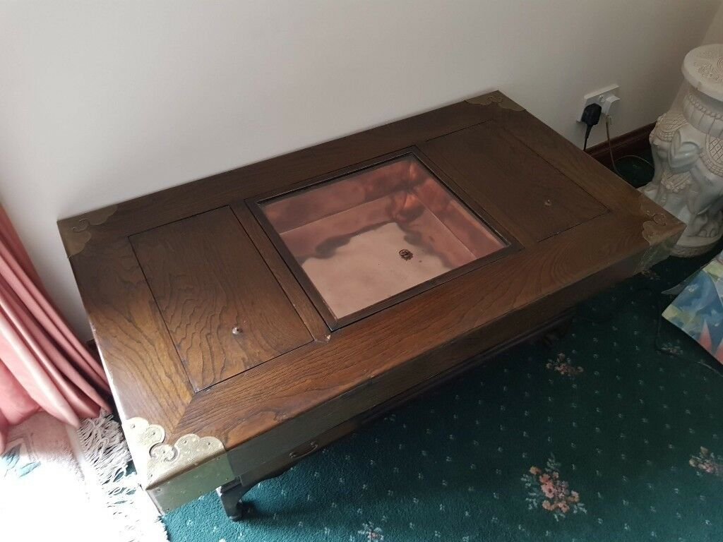 Cool Coffee Table Korean Hibachi Style Dark Wood Copper Drawers Glass Display In Dunfermline Fife Gumtree Pdpeps Interior Chair Design Pdpepsorg