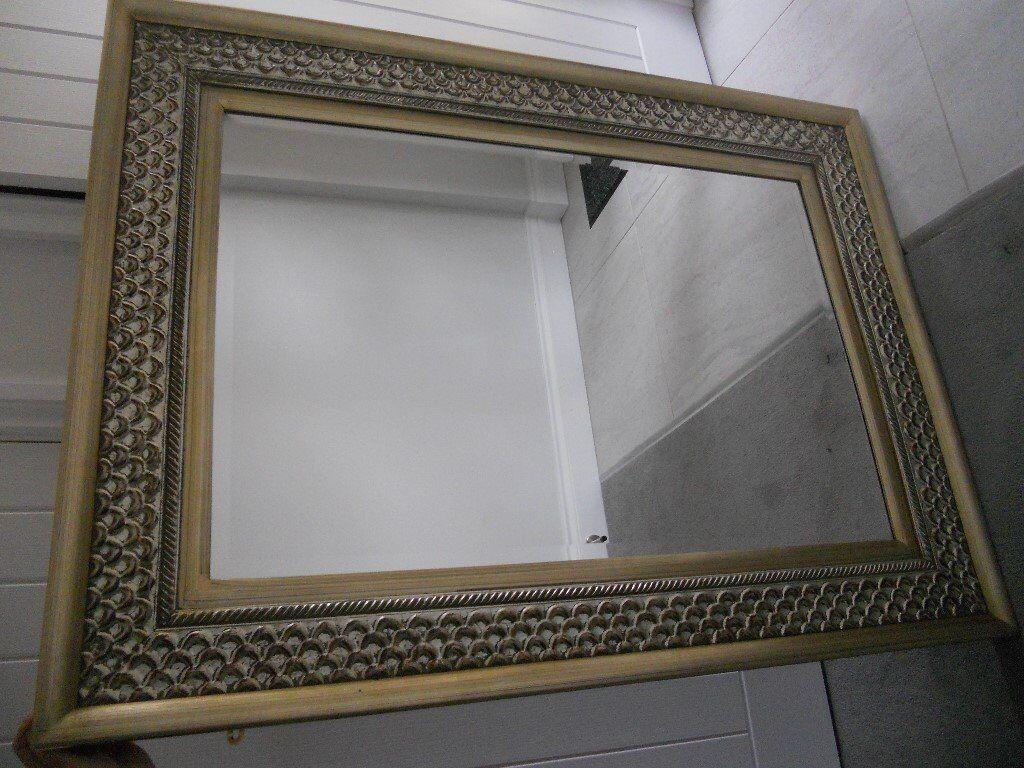 Large ornate bevelled mirror