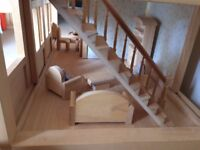 Dolls House - traditional exquisite wooden house fully furnished £75 Christchurch