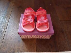 Clarks girls sandals size 4