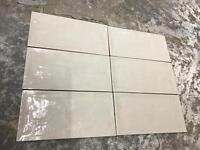 RUSTIC 150x75mm GLOSSY KITCHEN WALL TILE - 1.9 SQUARE METRES - £20.00