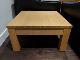 Oak Veneer Coffee/Side/Corner Table