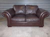 Creations Dark Brown Leather 2-seater Sofa (Suite)