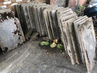 Concrete paving slabs (free)