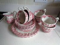 Myotts 'Countrylife' Staffordshire ware crockery