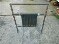 Vintage Copper Cast Iron Towel Rail Steampunk Radiator Architectural Salvage