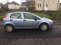 Fiat Punto 5 door hatch 2006 blue 1.2 long MOT