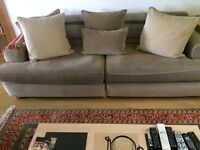 4 Seater Sofa with matching cushions - 2 for sale