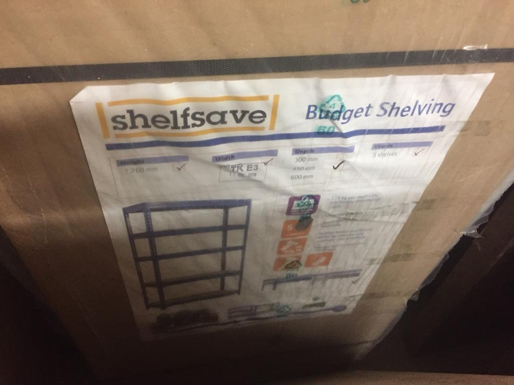 Garage Shelving for sale - 9 packets.