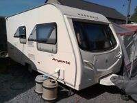 2007 Avondale Agente 480-2, 2 berth caravan with Awning, Mover and starter kit.