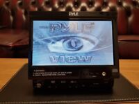 CAR DVD TOUCH SCREEN 7 INCH FLIP OUT HEAD UNIT WITH CD MP3 USB AUX SD VIDEO PLAYER STEREO RADIO