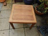 small teak garden table
