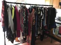 Various items of ladies clothes, shoes and bags