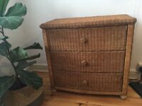 Rattan / wicker chest of drawers