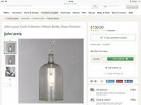 Two John Lewis Croft Collection Pendant Light's