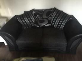 2 seater, single seater sofas and foot stool!