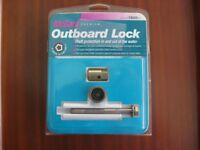 Boat outboard security locking bolt
