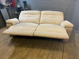 SCS FABRIC SOFA RECLINER IN NICE CONDITION