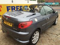 2005 PEUGEOT 206CC 1,6 PETROL ,REMOTE C LOCKING ONLY DONE 56,000 GENUINE MILES