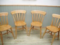 Stunning Set of 4 Pine Chairs