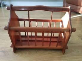 Retro Wooden magazine rack