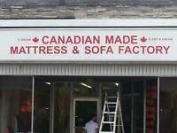 CANADIAN MADE SOFA & MATTRESS FACTORY DIRECT GRAND OPENING SALE