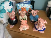 Full Set of Immaculate NatWest Pigs