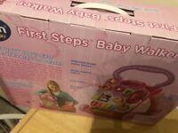 Vtech first steps baby walker pink brand new