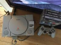 PlayStation console and games ps1