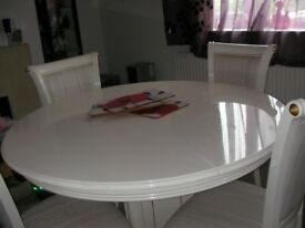 stunning white spanish table and 4 chairs
