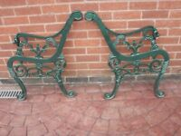 CAST IRON GARDEN SEAT ENDS