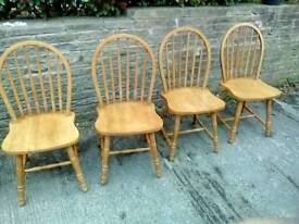 Pine chairs set of four