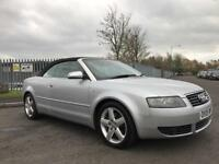 2005 AUDI A4 T SPORT CABRIOLET 1 OWNER FULL SERVICE HISTORY 12 MONTHS MOT!!