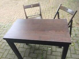IKEA extendable table and 2 chairs