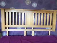 Solid Oak Superking headboard