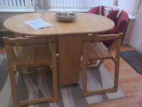 John Lewis Space Saving Butterfly Table & 4 Chairs